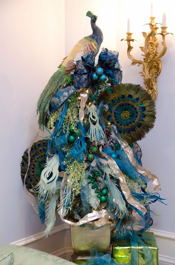 436 best Holidays images on Pinterest Xmas, Peacock christmas tree - peacock christmas decorations