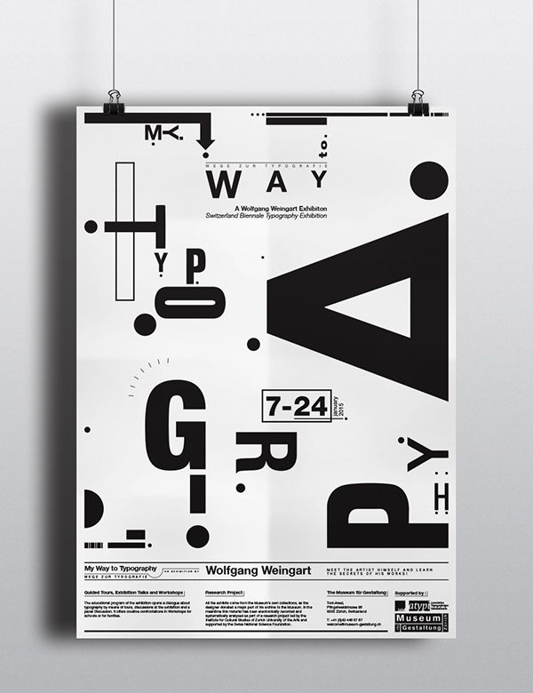 Wolfgang Weingart Exhibition Poster on Behance