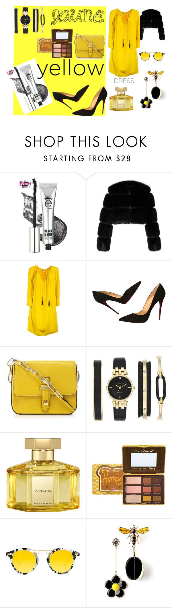 """#yellowdress"" by hajer-bh ❤ liked on Polyvore featuring Givenchy, Etro, Christian Louboutin, Anne Klein, L'Artisan Parfumeur and Krewe"