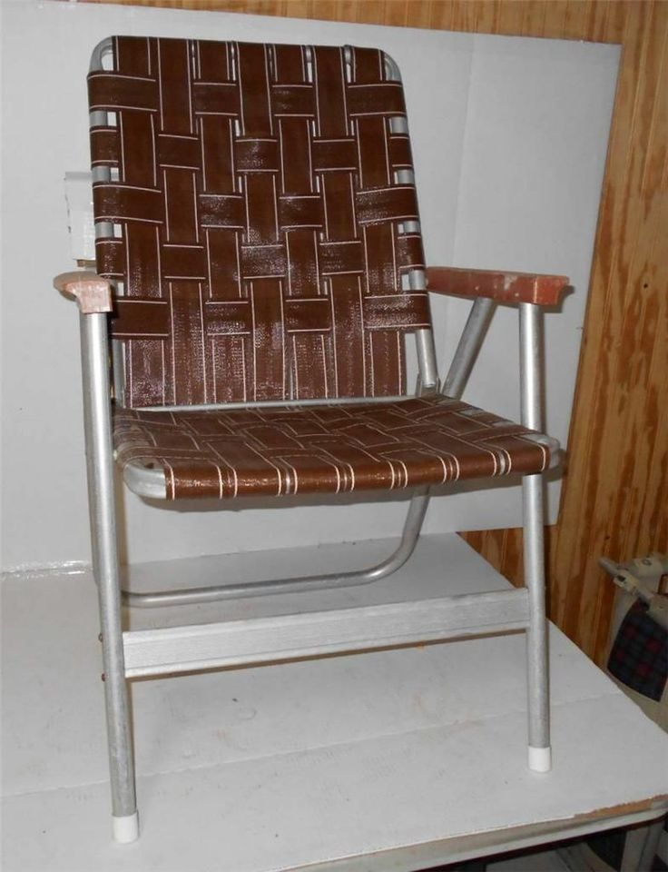 Vintage Lawn Deck Camping Chair Web Aluminum Folding Webbed Patio Retro |  EBay