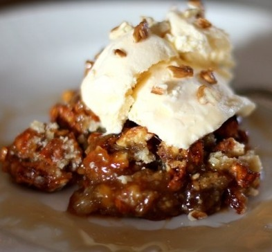 Maple Pecan Cobbler...serve with vanilla bean ice cream.  Might want to use the filling in crescent rolls.  YUM!! <3