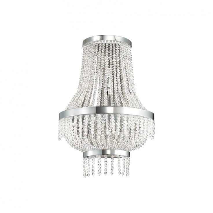 Edle Wandleuchte Augustus AP3 Edel Kristall Wandlampe Ideallux