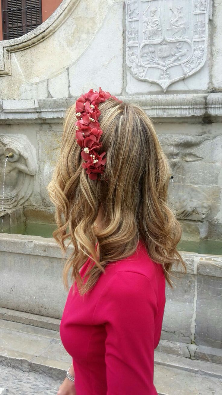 Corona de flores preservadas.  #invitadaperfecta #coronas #tocados
