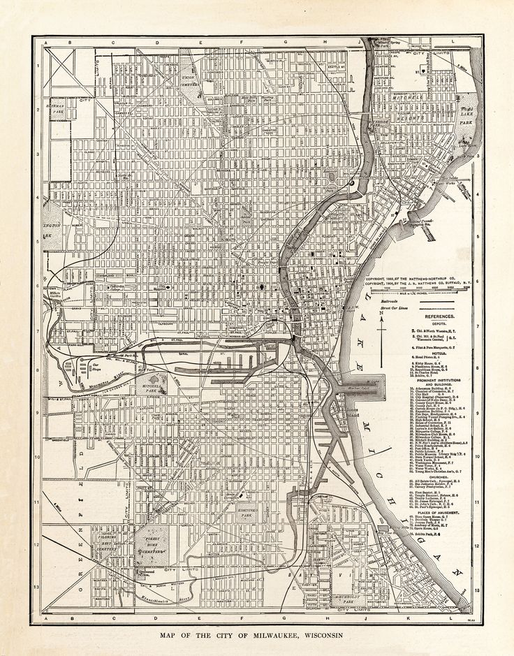 Map of The City of Milwaukee, Wisconsin From The New World Atlas and Gazetteer - 1923 We produce all of our on images in shop, and we are happy to offer custom work to our customers. Please inquire fo