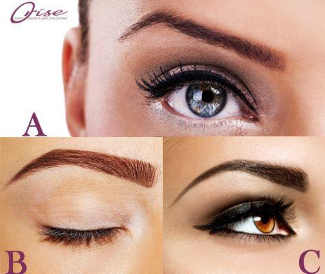 Les différentes formes de sourcils faites avec du ...