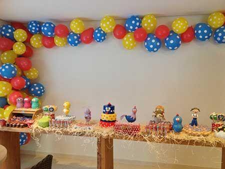 Decoração de Festa Galinha Pintadinha Simples e Fácil