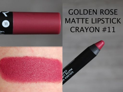 MAKEUP ARENA: Golden Rose Matte Lipstick Crayon 11
