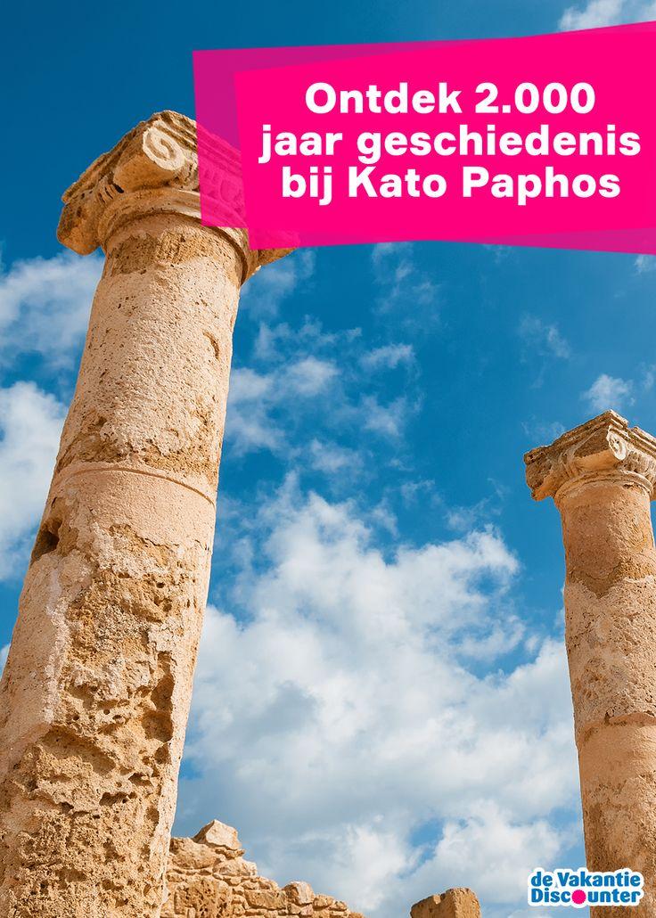 In 1962 was een boer zijn land aan het omgraven toen hij stuitte op immense mozaïekvloeren. Afgravingen begonnen en Kato Paphos werd blootgelegd. Anno 2015 kun je deze mozaïekvloeren bezoeken. Een hoogtepunt van jouw vakantie in het Cypriotische Paphos.