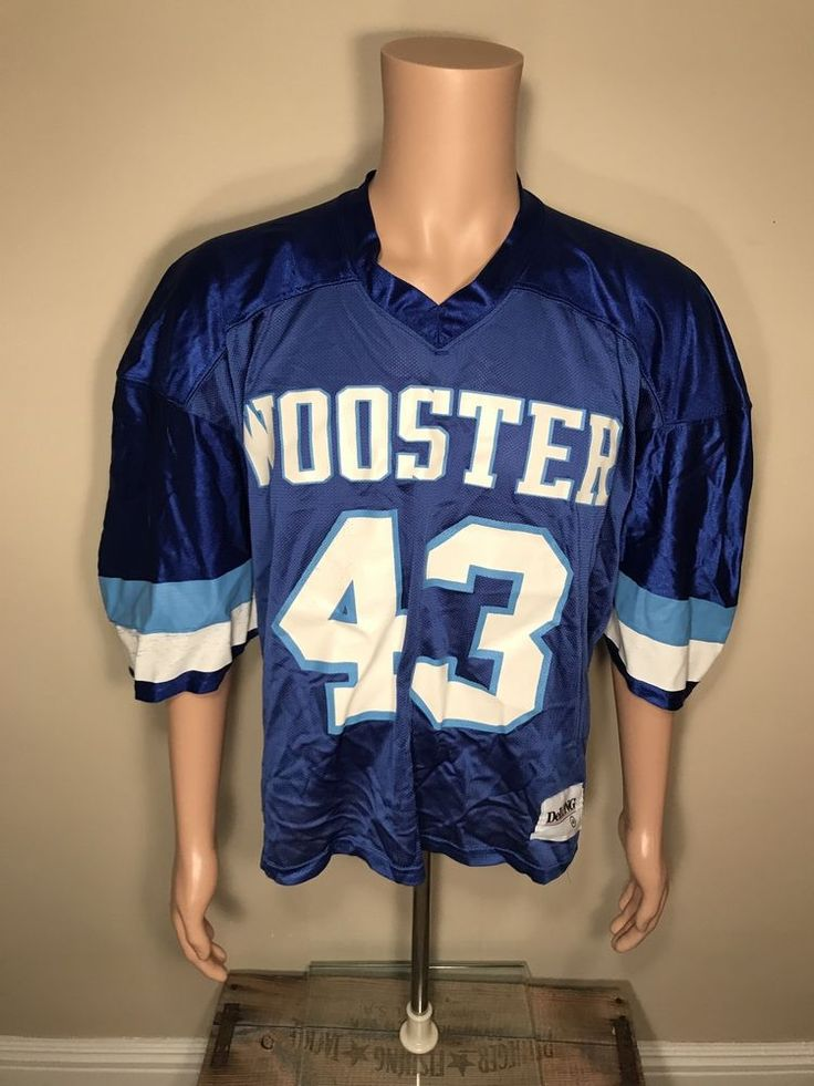Vintage College of Wooster football jersey team issued highschool Delong 48 Rare #CollegeofWooster