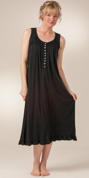 eileen west moonbeam gown | Modal Knit Ballet Black Gowns for Women - Eileen West Black Nightgowns ...
