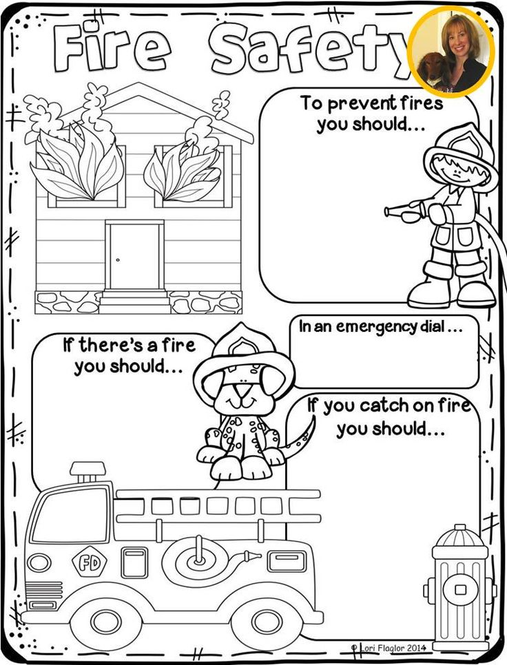 This poster will be perfect for the kids to color while learning about fire safety.