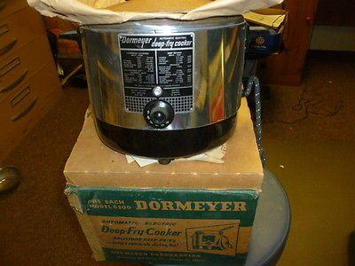 Vintage Dormeyer Electric Deep Fryer Cooker Model 6200 New