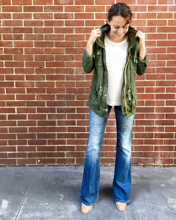 """""""I wouldn't say I was necessarily nostalgic for flares. But they make my legs look a mile long. Now they're my favorite pair."""" —Stephanie H., Director of Content at Stitch Fix"""
