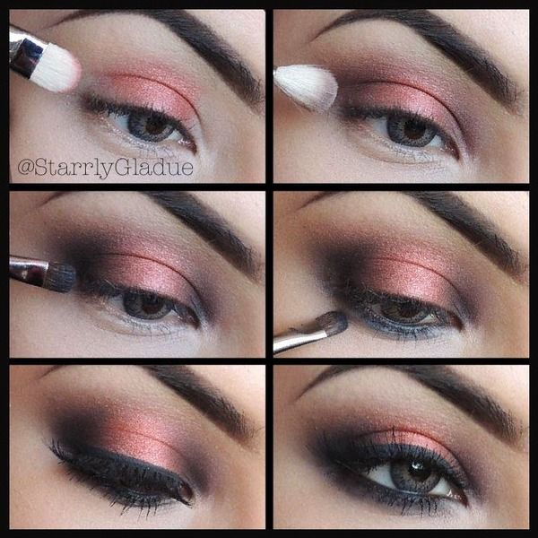 Coppering Smokey Eye Pictorial -- perfect for a peachy-colored dress to a night event or something...:]