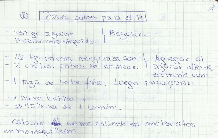 PANES DULCES PARA EL TE   #DULCE #MASAS #PAN #HARINA