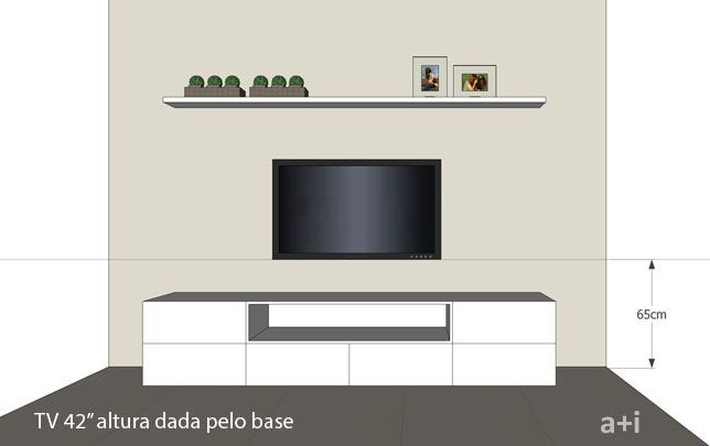 Altura Ideal Para Tv Na Parede Sala
