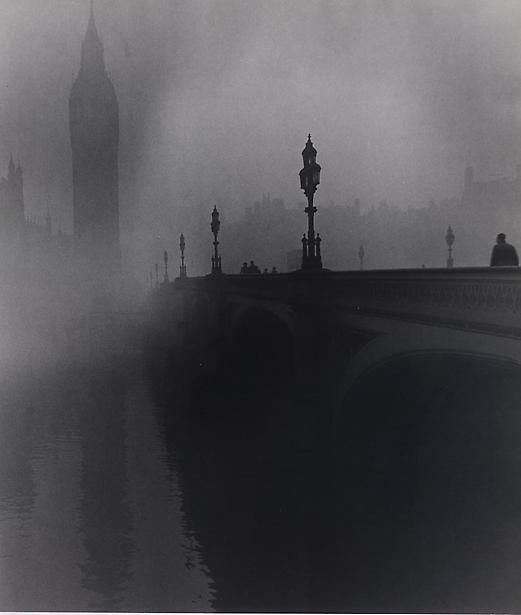 Westminster, 1946, looks like Sherlock Holmes will walk out of the fog...