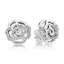 Pandora Boucles d'Oreilles Rose Scintillante