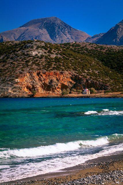 Chapel by the sea at Pachia Ammos, Agios Nikolaos ~ Crete