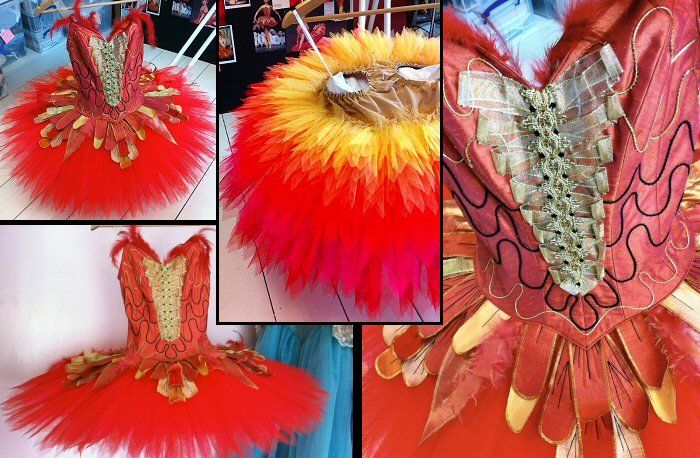 """Firebird"" tutu for an ex Royal Ballet of Canada/Canadian Royal Ballet dancer who runs a wonderful project, bringing dance to children of all ages."