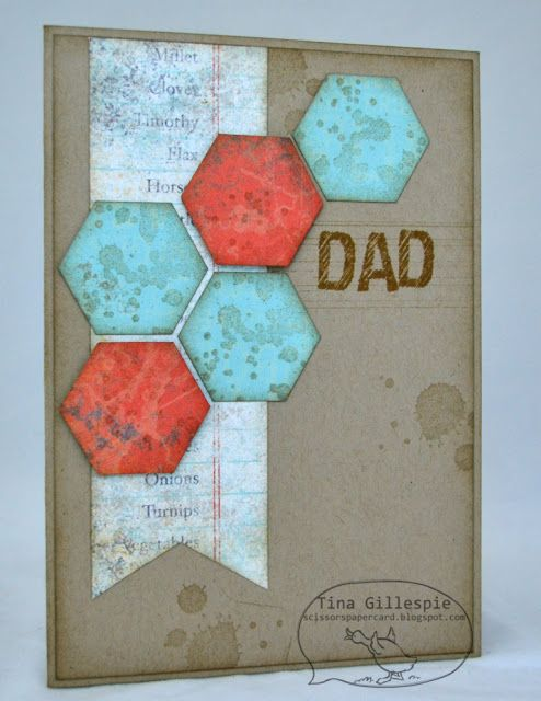 by Tina Gillespie, Scissors Paper Card: Epic Day Father's Day Card
