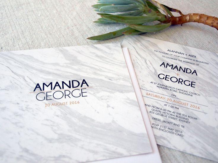 Calacatta Crush Wedding Invitation by Alannah Rose http://www.alannahrose.com.au/shop/category/wedding-stationery-calacatta-crush-marble #wedding #invitation #marble #calacatta #white #grey #invitations #marbleinvitations #marbleweddinginvitations #weddings #modern