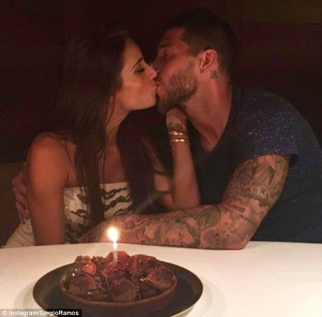 Ramos and his wife Pilar Rubio pose for a photograph that was uploaded to his Instagram