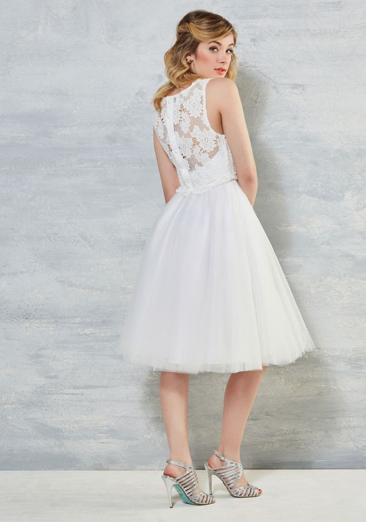 Now Pronounce You Posh Dress in White at Modcloth
