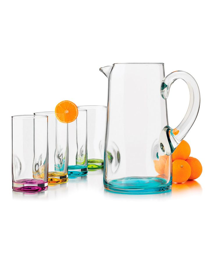 Look what I found on #zulily! Libbey Tropical Cooler Glass & Pitcher Set by Libbey #zulilyfinds