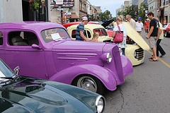 Classic cars in Downtown St. Catharines.  Come to the 11th annual Downtown Classic Car Show on Sat. July 6, 2013.  www.mydowntown.ca