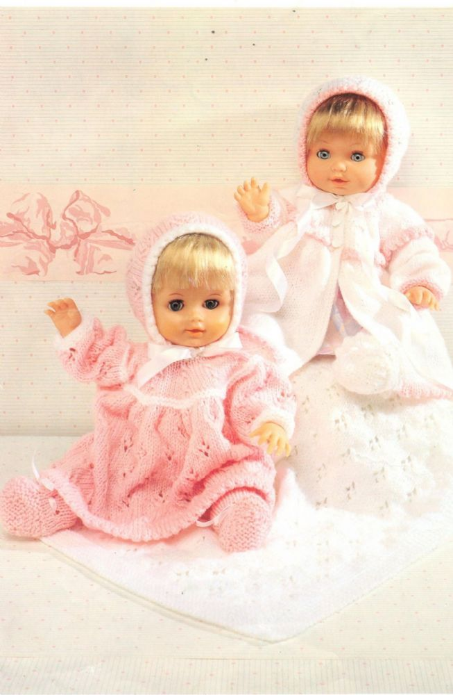 c09a5a845 PDF DIGITAL DOLL AND BABY CLOTHES PATTERN 12-22 IN DK 8 PLY Dress ...