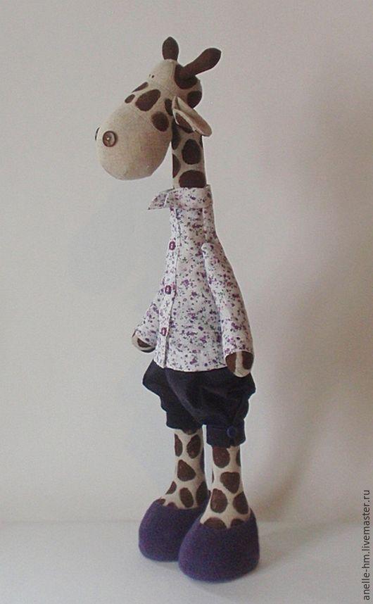 Игрушки животные, ручной работы. Ярмарка Мастеров - ручная работа. Купить Жираф в фиолетовом. Handmade. Фиолетовый, жираф, мягкая игрушка