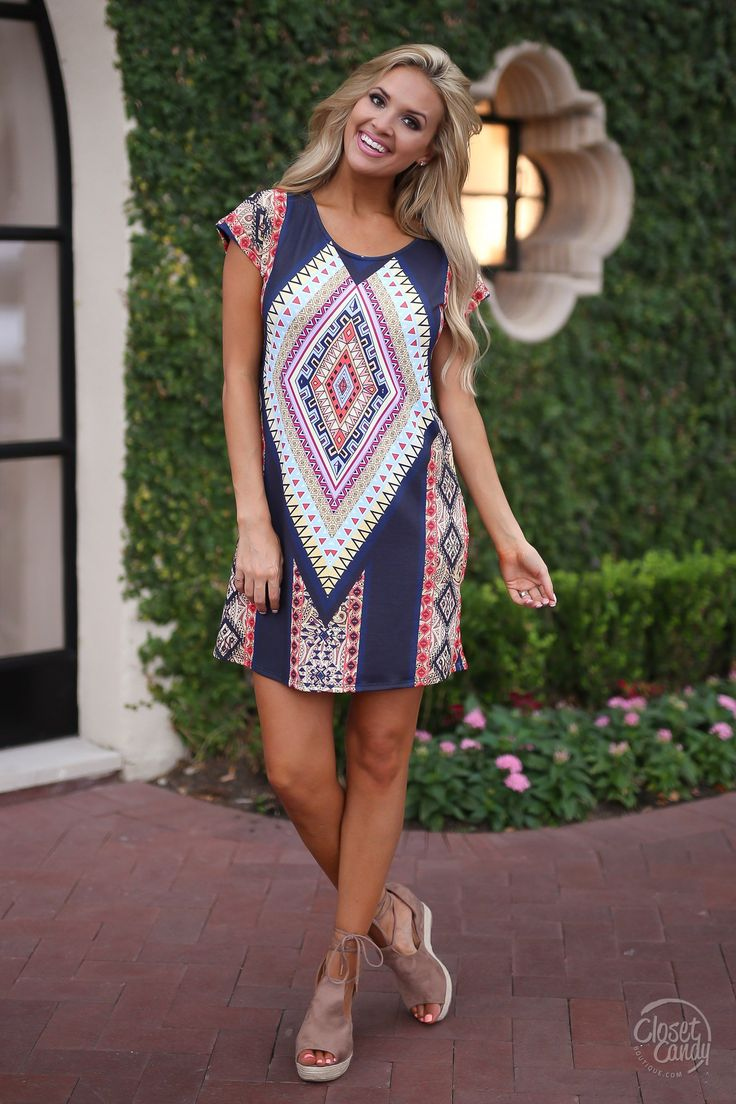 Straight To The Point Dress trendy style geometric print womens clothing fashion dresses closet candy boutique