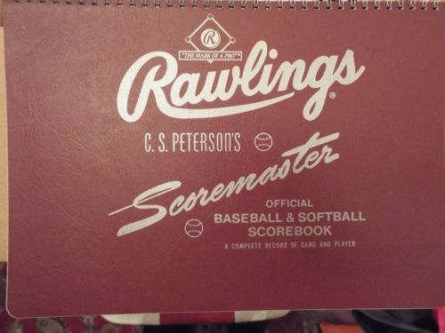 NEW-RAWLINGS-SCOREMASTER-CS-Peterson-039-s-Scoremaster-Baseball-Softball-Scorebook