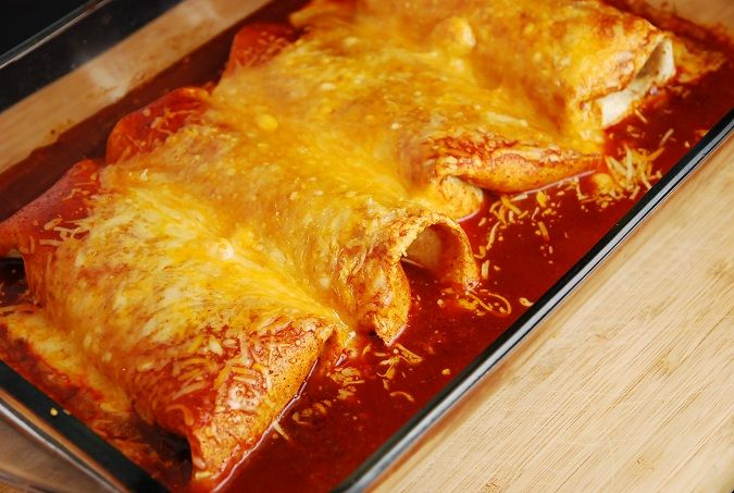 Crock Pot Chicken Burritos Recipe -- start with chicken in crock pot and finish them in the oven – 5 Points each -- makes 8 servings