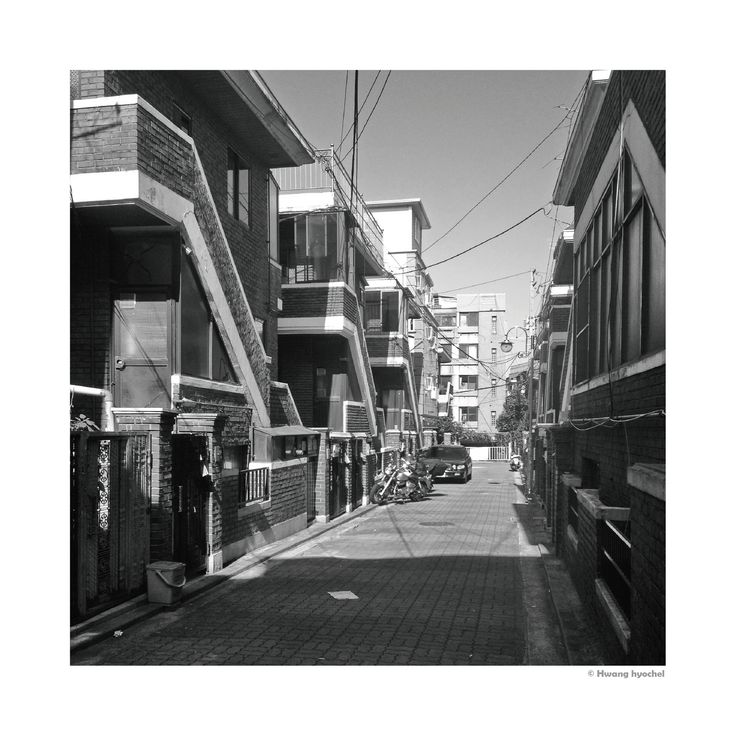 Looking at the Typology  Korea village alley