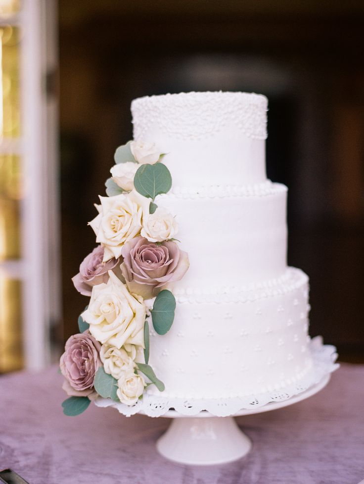 Mauve Cream Rose Cake Photography Jasmine Lee
