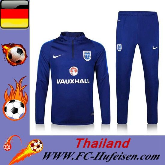 Die Neuen Trainingsanzüge Fussball Herren Kits England Blau Saison 2016 2017 Deutschland Online