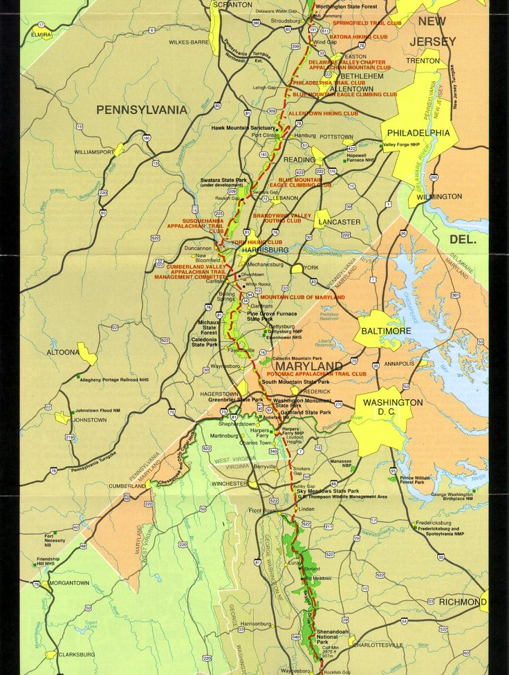 map PA MD VA section of