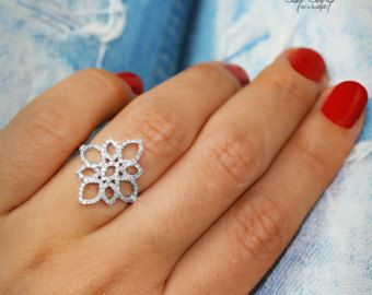 Anillo de diamante de encaje infinito nudo por SillyShinyDiamonds