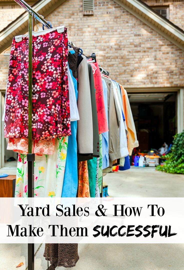Yard Sales & How To Make Them Successful - planning a yard sale any time soon? Here are some great tips to help you make money and do well at your yard sales!
