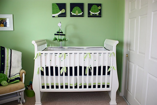 If I did green walls like this, would it be neutral enough for a boy/girl nursery in the future?