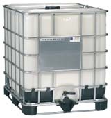 IBC 275 Gallon Tote Tank. Soon to be my rainwater collection tanks.
