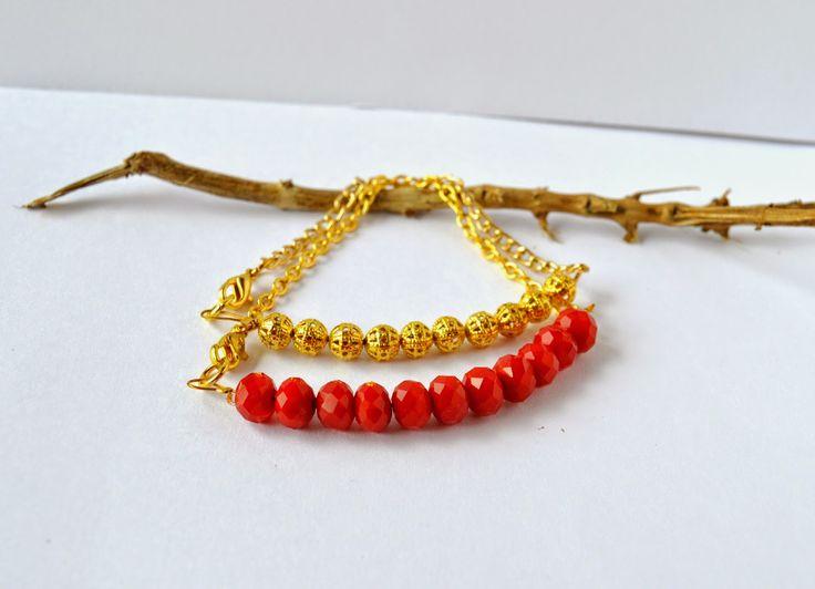 Dainty beads and chain bracelets DIY / Φτιάξτο μόνη σου : διακριτικό βραχιόλι με αλυσίδα και χάντρες!