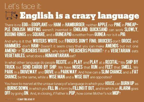 the spelling rules of the english language As much as we might judge people for their bad spelling, the truth is that english spelling doesn't make any goddamn sense  5 reasons the english language makes.