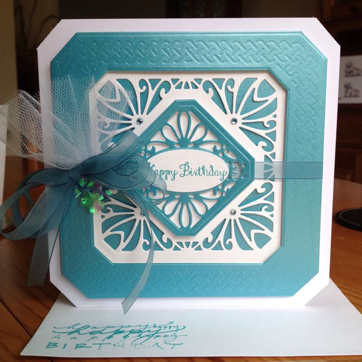 Card made using Sue Wilsons Noble Dies - Classic Adorned Squares