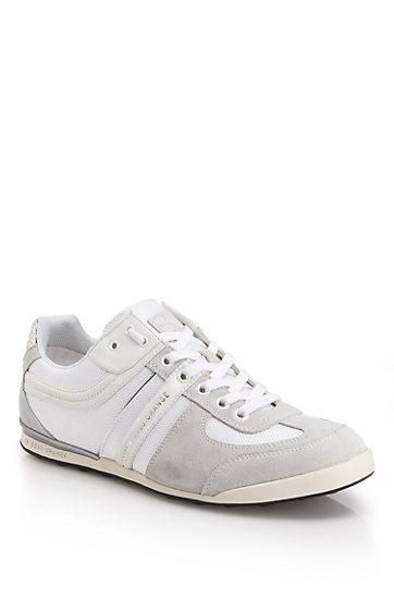 BOSS Orange by Hugo Boss - 'Keelo' | Nylon and Leather Lace-Up Sneaker - White