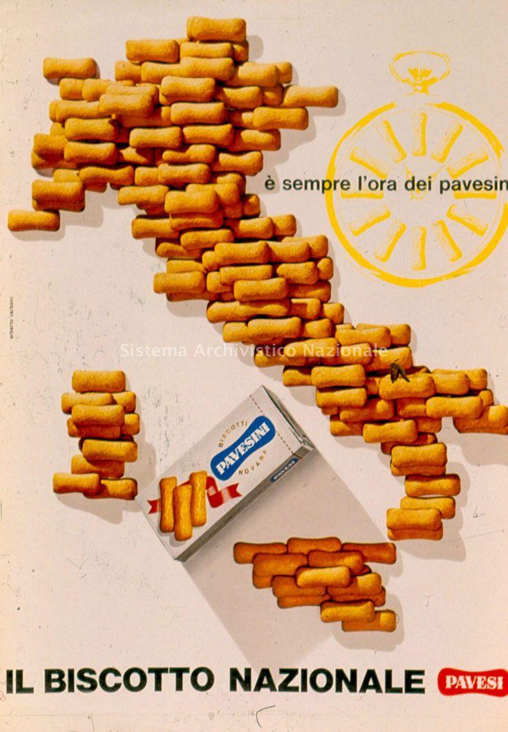 Poster for Pavesini by Erberto Carboni 1964
