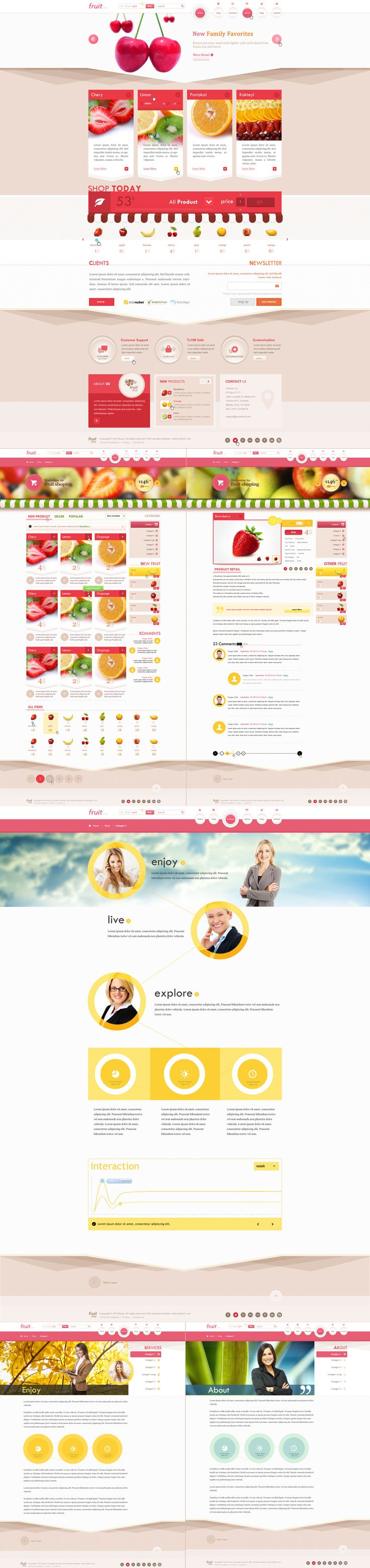 Fruit Shop (psd template)