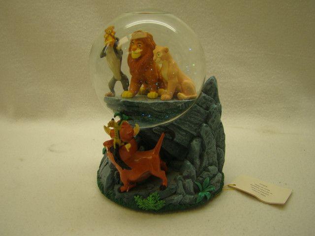 "Disney Store Lion King Simba on Pride Rock ""Circle of Life"" Snow Globe"